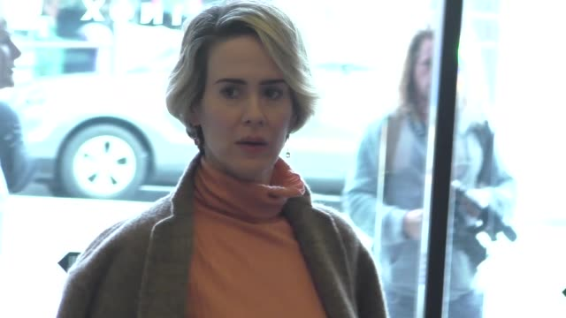 sarah paulson at the gold meets golden benefit at equinox sports club west la on january 07 2017 in los angeles california - sarah paulson stock videos and b-roll footage
