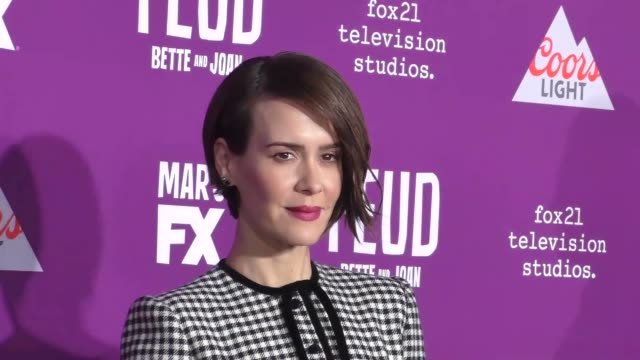 Sarah Paulson at the Premiere Of FX Network's 'Feud Bette And Joan' at TCL Chinese Theatre on March 01 2017 in Hollywood California