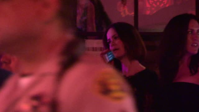 stockvideo's en b-roll-footage met sarah paulson departs the variety and women in film pre emmy party at gracias madre in los angeles in celebrity sightings in los angeles, - pre emmy party