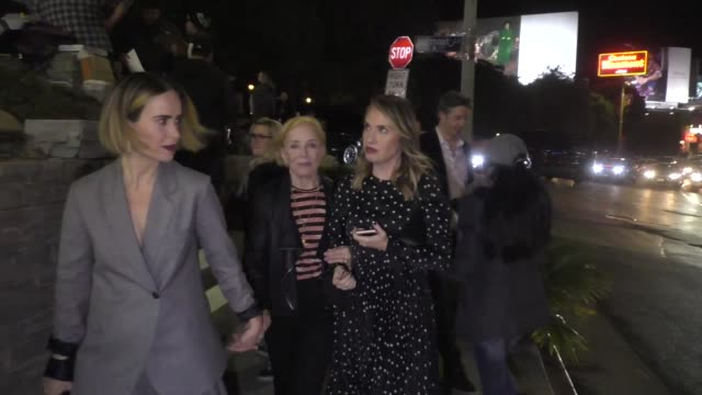 Sarah Paulson Holland Taylor Leslie Grossman leave Entertainment Weekly's SAG Awards Party at Chateau Marmont in Los Angeles in Celebrity Sightings...
