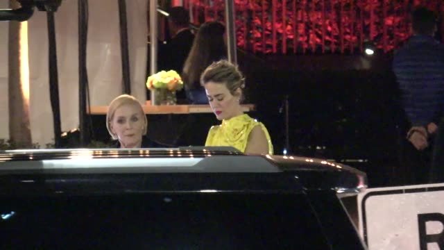 Sarah Paulson Holland Taylor outside the Vanity Fair Oscar Party in Beverly Hills in Celebrity Sightings in Los Angeles