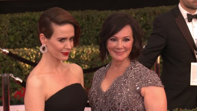 sarah paulson marcia clark at 23rd annual screen actors guild awards arrivals in los angeles ca - sarah paulson stock videos and b-roll footage