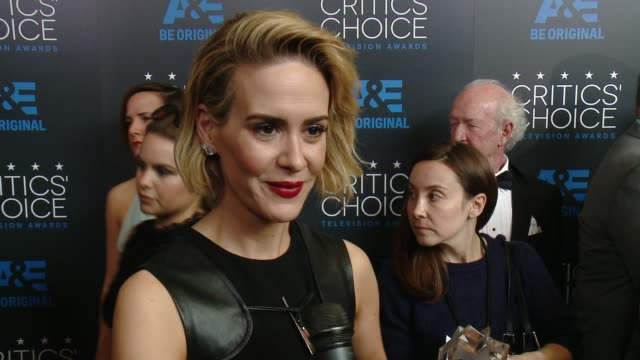 INTERVIEW Sarah Paulson on being at the event at the 2015 Critics' Choice Television Awards at The Beverly Hilton Hotel on May 31 2015 in Beverly...