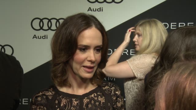 sarah paulson on being at the event her nomination how she's preparing for the big day what it's like getting ready for the red carpet what she... - sarah paulson stock videos and b-roll footage