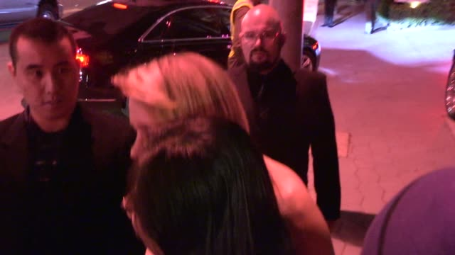 sarah paulson with fans while departing the caa party at the sunset tower in west hollywood in celebrity sightings in los angeles - sarah paulson stock videos and b-roll footage