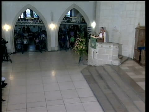 memorial service at guildford cathedral england surrey guildford int bishop of dorking in pulpit taking memorial service for sarah payne sot / top... - guildford stock videos and b-roll footage