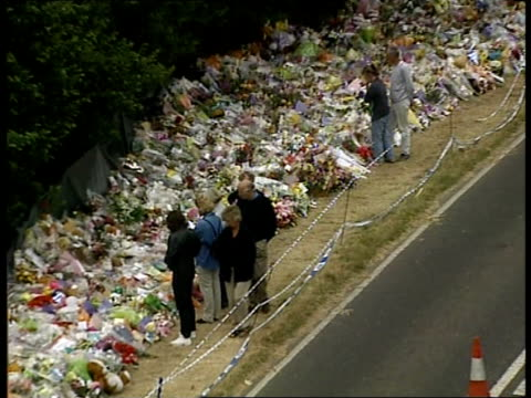 parents support name and shame campaign een england west sussex pulborough flowers left at scene where body of sarah payne was discovered - identity stock videos & royalty-free footage