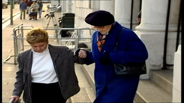 sarah payne murder trial mother gives evidence mother of defendant roy whiting leaving court - defendant stock videos & royalty-free footage