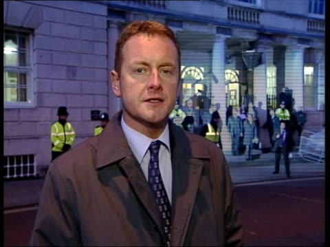sarah payne murder trial: prosecution case begins; lewes: michael and sara payne from court i/c - itv late evening bulletin点の映像素材/bロール