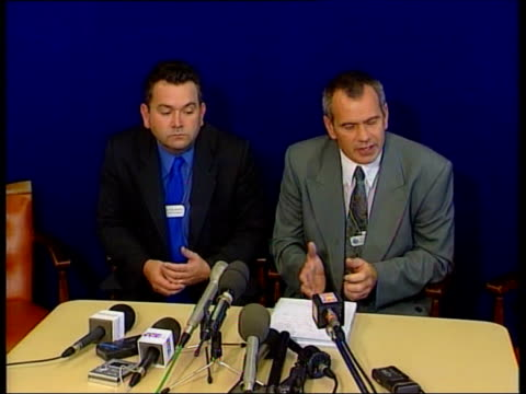 parents make television appeal; england: west sussex: littlehampton: int detective supt alan ladley press conference sot - increasingly concerned... - west sussex stock videos & royalty-free footage