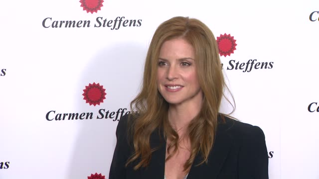Sarah Rafferty at Hot Brazilian Fashion Brand Carmen Steffens Opens US Flagship Store on 8/3/12 in Los Angeles CA