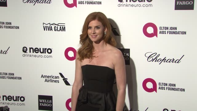 sarah rafferty at the 23rd annual elton john aids foundation academy awards viewing party sponsored by chopard, neuro drinks and wells fargo on... - platinum stock-videos und b-roll-filmmaterial