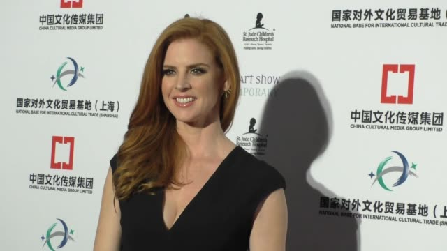 Sarah Rafferty at the LA Art Show And Los Angeles Fine Art Show's 2016 Opening Night Premiere Party at LA Convention Center in Los Angeles at...