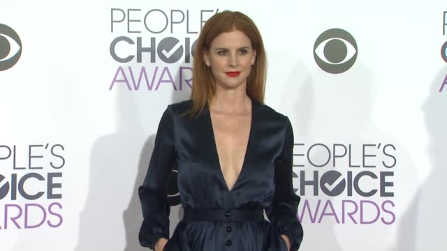 Sarah Rafferty at the People's Choice Awards 2016 at Nokia Plaza LA LIVE on January 6 2016 in Los Angeles California