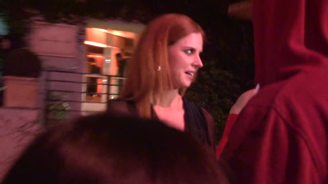 Sarah Rafferty greets fans while departing ELLE's Women In Television Celebration at the Sunset Tower in West Hollywood in Celebrity Sightings in Los...
