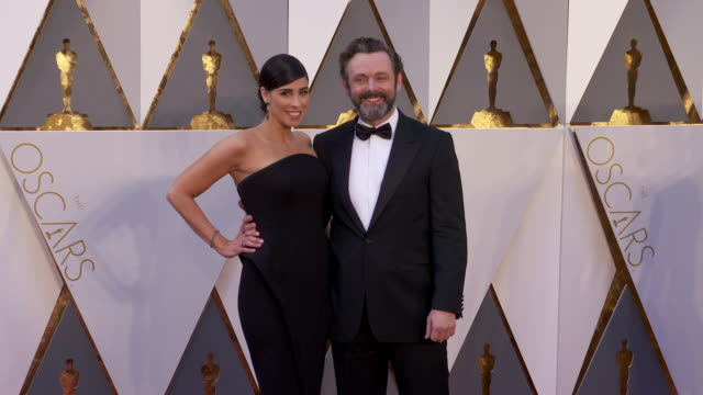 Sarah Silverman and Michael Sheen at 88th Annual Academy Awards Arrivals at Hollywood Highland Center on February 28 2016 in Hollywood California 4K