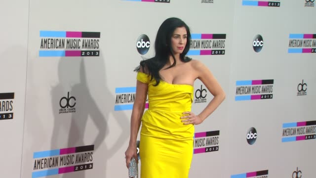 sarah silverman at 2013 american music awards arrivals in los angeles ca - american music awards stock videos and b-roll footage