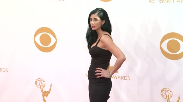 sarah silverman at 65th annual primetime emmy awards - arrivals on 9/22/2013 in los angeles, ca. - annual primetime emmy awards stock-videos und b-roll-filmmaterial