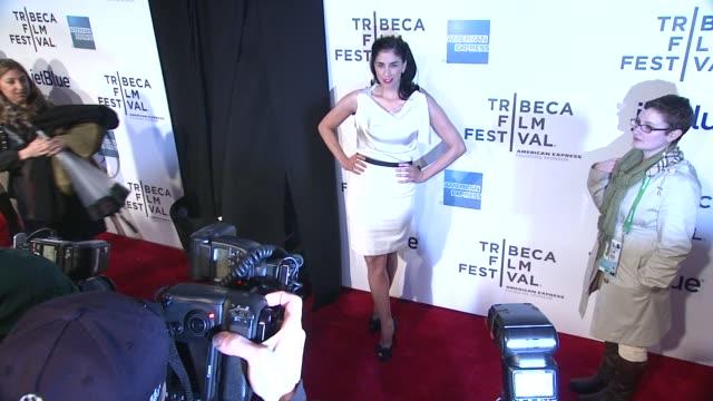 "stockvideo's en b-roll-footage met sarah silverman at ""take this waltz"" premiere - 2012 tribeca film festival at borough of manhattan community college on april 22, 2012 in new york,... - sarah silverman"
