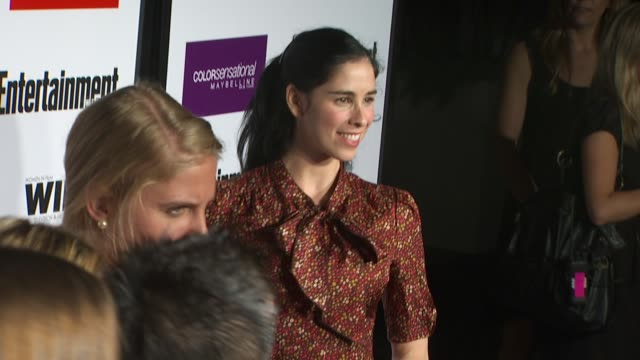 sarah silverman at the entertainment weekly women in film preemmy party at west hollywood ca - pre emmy party stock videos & royalty-free footage