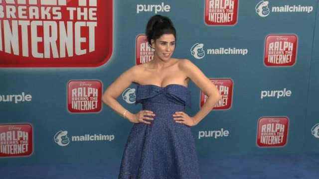 """sarah silverman at the """"ralph breaks the internet"""" world premiere at the el capitan theatre on november 05, 2018 in hollywood, california. - el capitan theatre stock videos & royalty-free footage"""