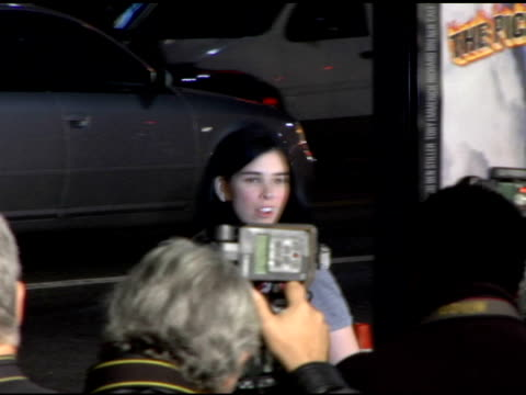 sarah silverman at the 'tenacious d in the pick of destiny' premiere arrivals at grauman's chinese theatre in hollywood, california on november 9,... - tenacious d stock videos & royalty-free footage