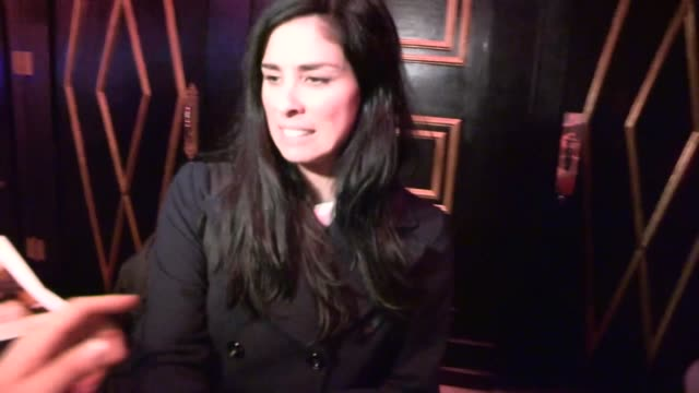 Sarah Silverman Harassed by Autograph Collector at Stand Up For Gus Benefit at Bootsy Bellows in Hollywood Celebrity Sightings in Los Angeles CA on...