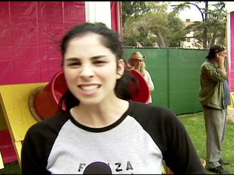 sarah silverman on expecting to work with little toddlers but getting lots of older kids in her booth on being on to the older kids strategy to win... - dipping stock videos & royalty-free footage
