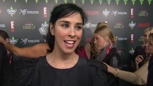 Sarah Silverman on the charity and event at the Variety's 2nd Annual Power Of Comedy Event at Hollywood CA