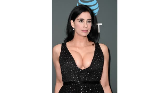 sarah silverman poses in the press room during the 24th annual critics' choice awards at barker hangar on january 13 2019 in santa monica california - barker hangar stock videos & royalty-free footage