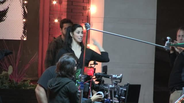 Sarah Silverman shooting on film set in Los Angeles 08/07/13