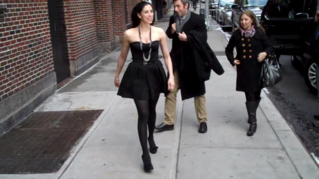 Sarah Silverman visits 'Late Show With David Letterman' at the Celebrity Sightings in New York at New York NY