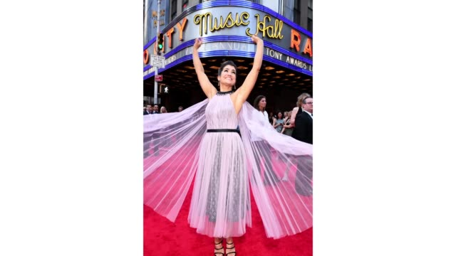 sarah stiles attends the 73rd annual tony awards at radio city music hall on june 09 2019 in new york city - annual tony awards stock videos and b-roll footage
