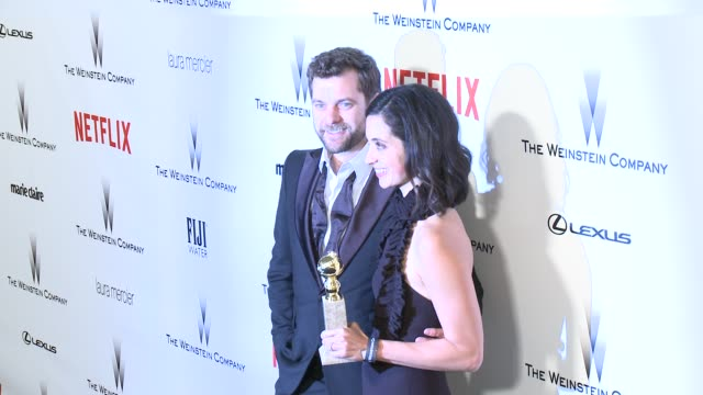 Sarah Treem and Joshua Jackson at the 2015 Weinstein Company And Netflix Golden Globe After Party at Robinsons May Lot on January 11 2015 in Beverly...