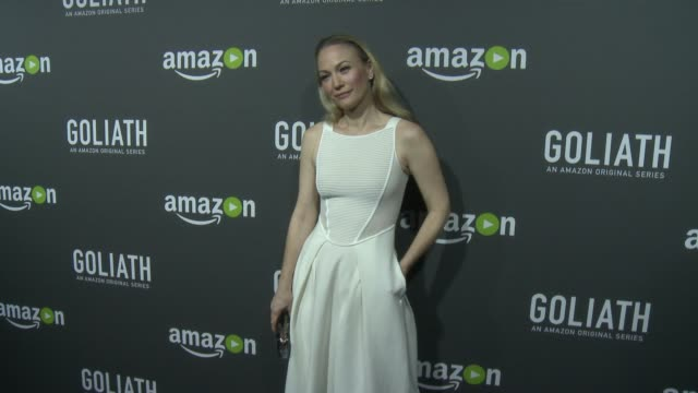 "sarah wynter at the amazon red carpet premiere screening of original drama series ""goliath"" at the london on september 29, 2016 in west hollywood,... - サラ ウィンター点の映像素材/bロール"