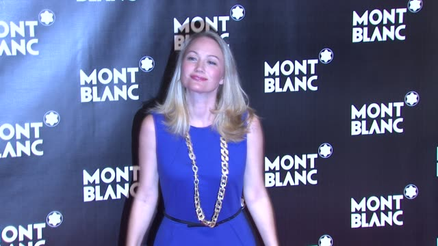 sarah wynter at the global launch of the montblanc john lennon edition at new york ny. - サラ ウィンター点の映像素材/bロール