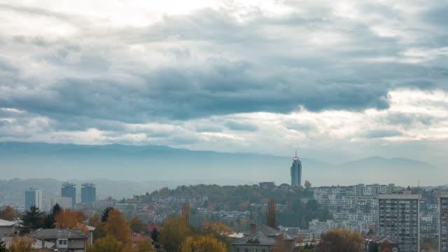 sarajevo, bosnia and herzegovina, time lapse - bosnia and hercegovina stock videos & royalty-free footage