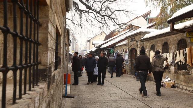 sarajevo old town: bascarsija - サラエボ点の映像素材/bロール
