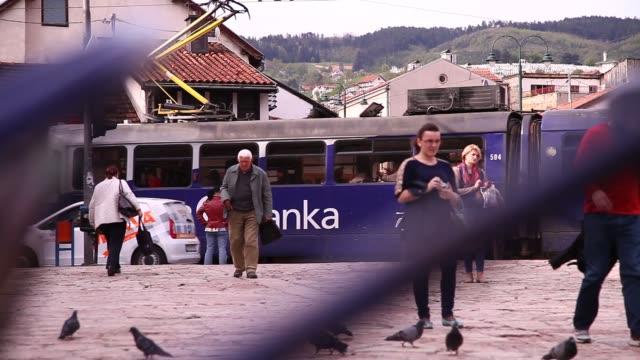 sarajevo tram - bosnia and hercegovina stock videos & royalty-free footage