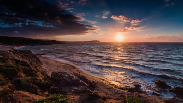 sardina coastline at sunset - italy - western europe stock videos & royalty-free footage
