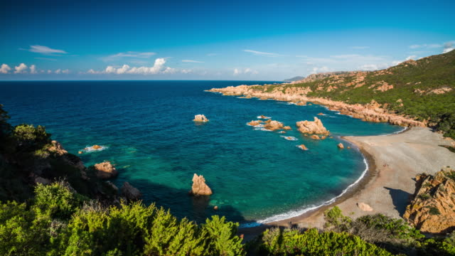 sardinia coastline -  costa paradiso - sardinia stock videos & royalty-free footage