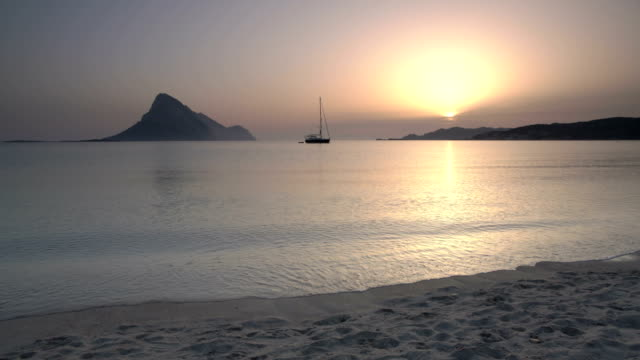 sardinian beach at sunrise - spiaggia stock videos & royalty-free footage