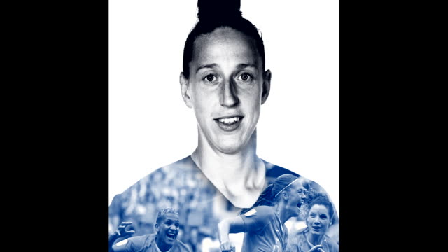 sari van weenendaal of the netherlands poses for a portrait during the official fifa women's world cup 2019 portrait session at hotel novotel le... - fifa world cup stock videos & royalty-free footage