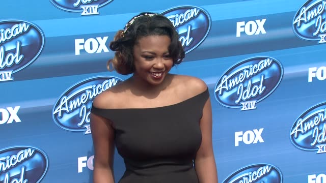 sarinajoi crowe at the american idol xiv grand finale arrivals at dolby theatre on may 13 2015 in hollywood california - american idol stock videos and b-roll footage