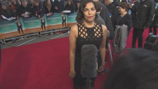 sarita choudhury at 'a hologram for the king' uk film premiere at bfi southbank on april 25, 2016 in london, england. - bfi southbank stock videos & royalty-free footage