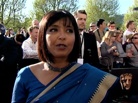 sarker sunetra on working as long hours as real doctors; on britain's got talent at the tv bafta awards at london . - britain's got talent stock-videos und b-roll-filmmaterial