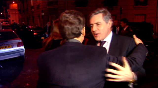 sarkozy criticises brown's economic policy of cutting vat r14010919 photography*** gordon brown and his wife sarah brown out of car on rival for... - vat stock videos & royalty-free footage
