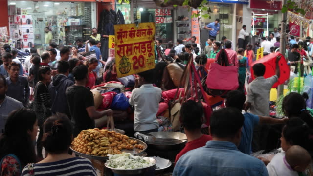Sarojini Nagar market place days before Diwali during the festive season