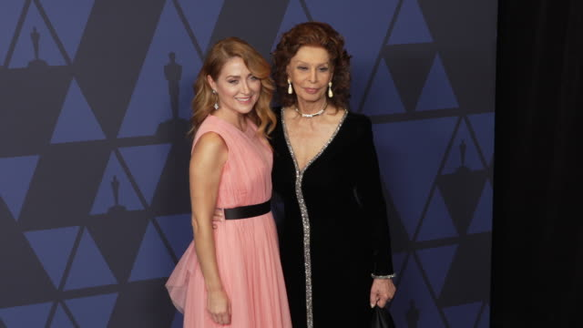 sasha alexander and sophia loren at the 2019 governors awards on october 26, 2019 in hollywood, california. - sophia loren stock videos & royalty-free footage