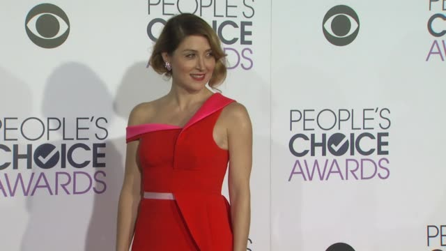 Sasha Alexander at the People's Choice Awards 2016 at Nokia Plaza LA LIVE on January 6 2016 in Los Angeles California